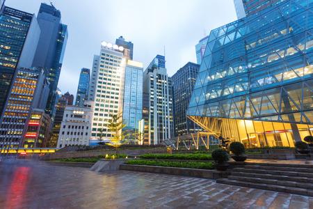 현대 비즈니스 사무실 건물 외관 스톡 콘텐츠