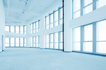 fench: empty modern office corridor interior Editorial