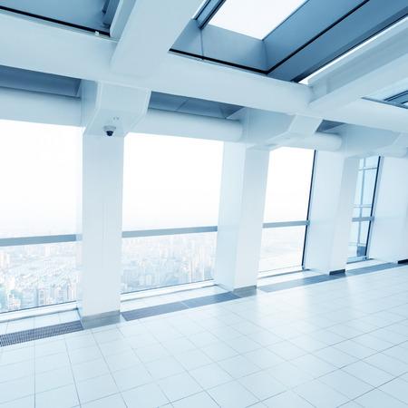 fench: empty modern office corridor interior Stock Photo