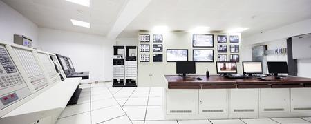 computer control: surveillance control room interior