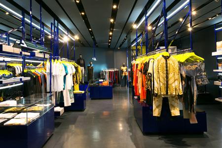 window display: clothes shop interior Editorial