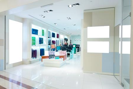 clothing store: handbag store interior