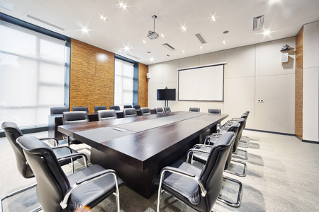 meeting table: modern office meeting room interior and decoration
