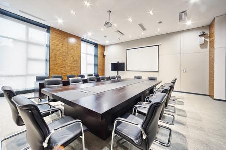 Nowoczesny pokój spotkań i dekoracji wnętrz biurowych