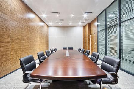 현대적인 사무실 회의실 인테리어와 장식