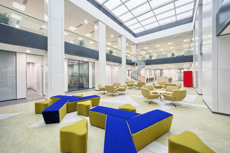 design office: modern office hall interior Editorial