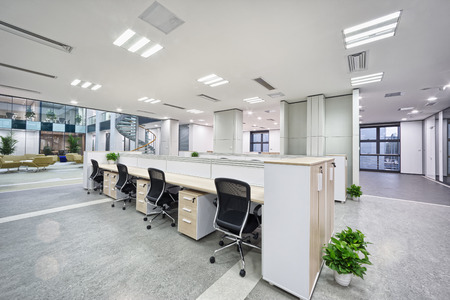 office interior design: modern office room interior Editorial