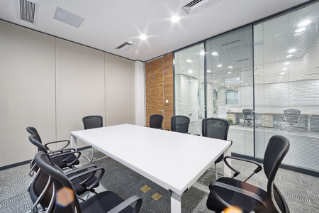 work area: modern office meeting room interior