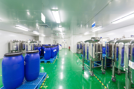 pharmaceutical factory workshop interior