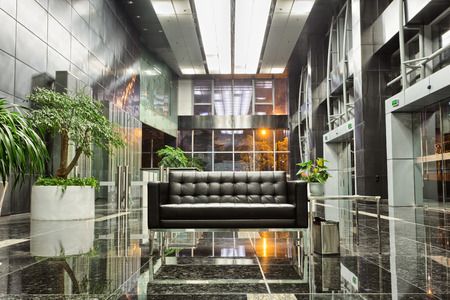 decoration work: modern office building lobby