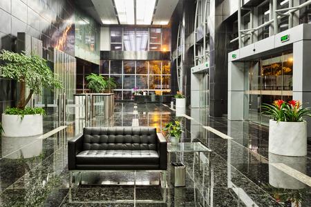 contemporary: modern office building lobby