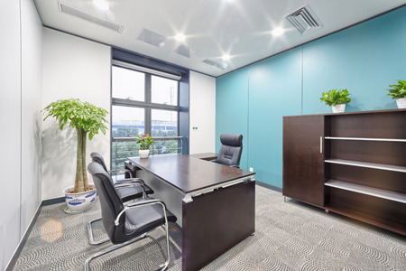 desk area: modern office interior