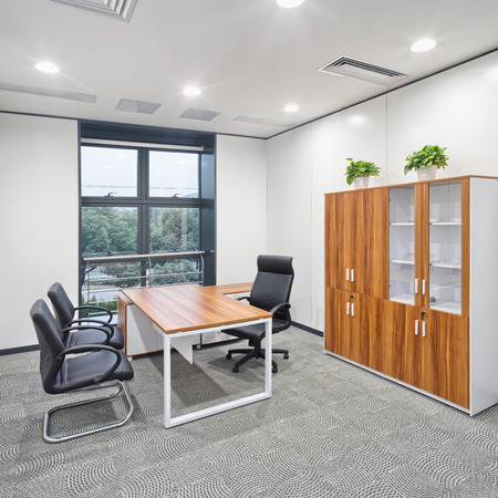 windows and doors: modern office interior