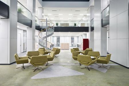 현대 사무실 로비 홀 인테리어