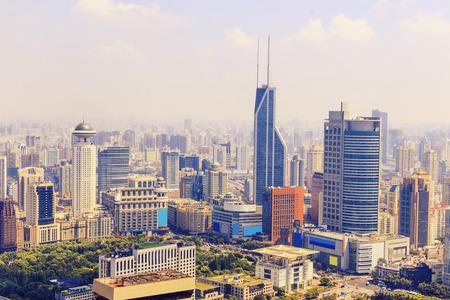 shanghai skyline: skyline and buildings of modern city,shanghai.