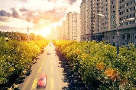 buidings: modern city street and office buidings,beijing
