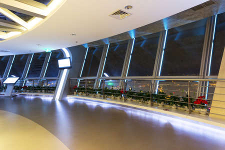 viewing deck interior and lights.