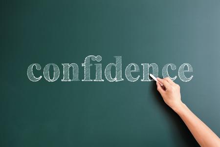 confidence written on blackboard photo