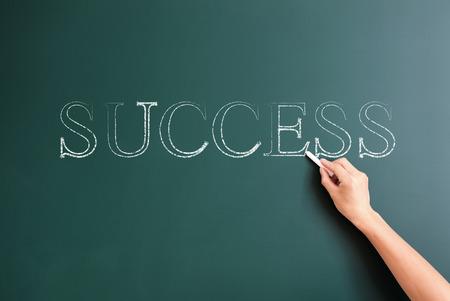 success written on blackboard photo