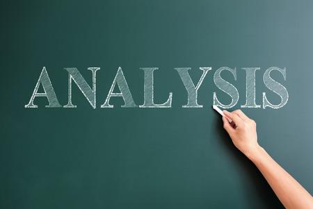 writing analysis on blackboard photo