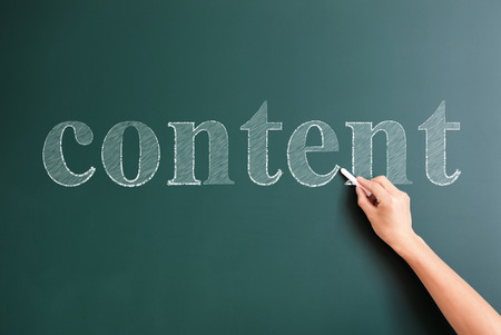 content writing: writing content on blackboard