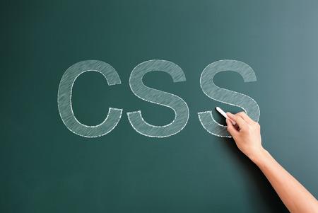 css: css written on blackboard
