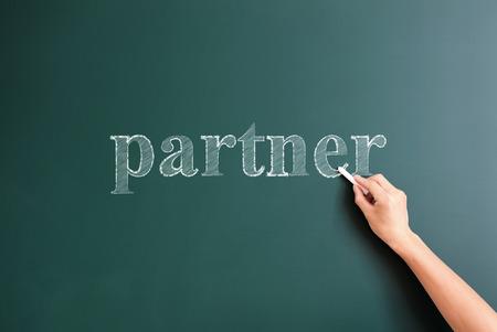 partner written on blackboard photo
