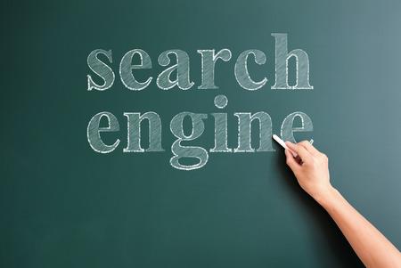 serch engine written on blackboard photo