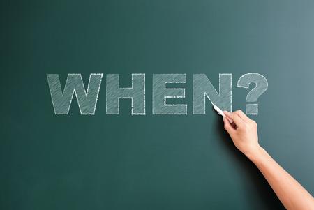 when: question when written on blackboard
