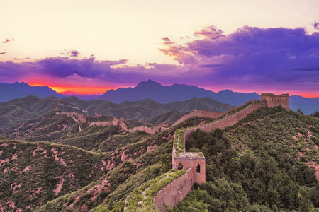 great: skyline and great wall