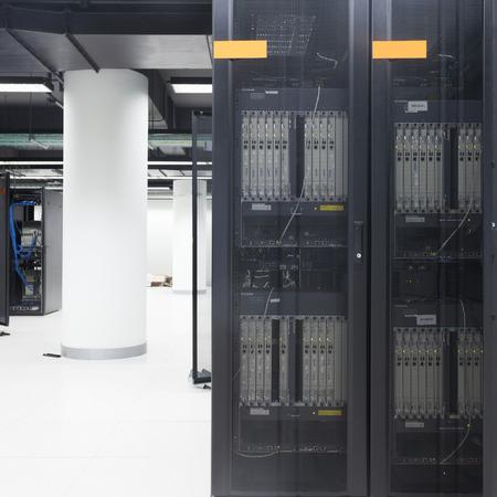 usb port: telecommunication server in data center