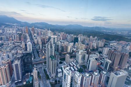 skyline,cityscape of modern city,shenzhen Reklamní fotografie