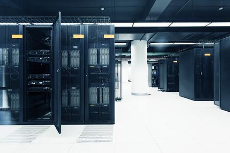 office room: telecommunication server in data center