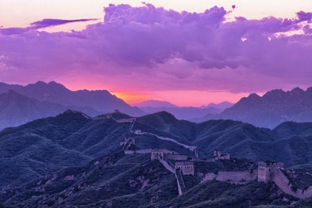 greatwall: greatwall,the landmark of china,with sunset skyline