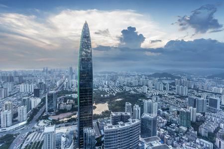 skyline,cityscape of modern city,shenzhen 에디토리얼