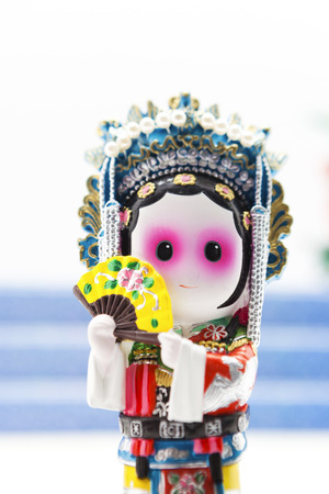 figurine: figurine of chinese opera Stock Photo