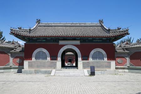 taoisme: traditionele taoism tempel gevel in China Stockfoto
