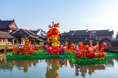 water town: traditional chinese landscape in water town, wuzhen