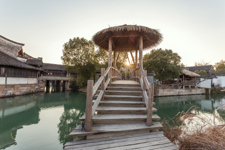 traditional chinese landscape in water town, wuzhen photo