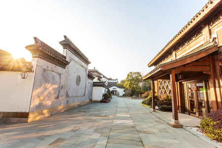 residence: traditional chinese vintage residence exterior
