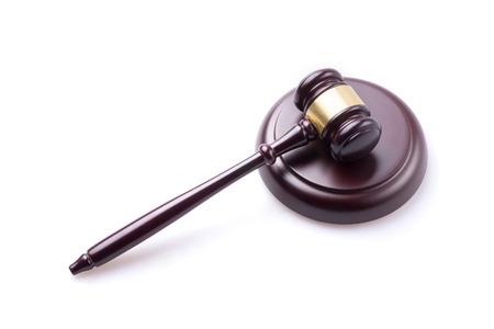 juge marteau: juge marteau sur fond isol� Banque d'images