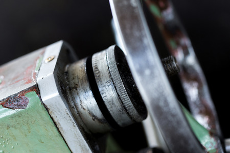 mechanical engineering: Obsolete Industry Machine in factory Stock Photo