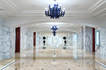 corridors: luxury hotel corridor interior with elegant decorations.