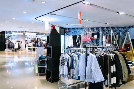 shop front: modern fashion clothes shop front