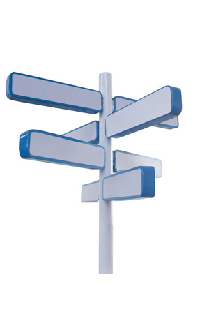 multidirectional: 3d road sign on white background