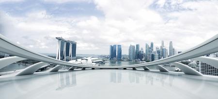 Leere Boden und moderne Stadtbild Standard-Bild