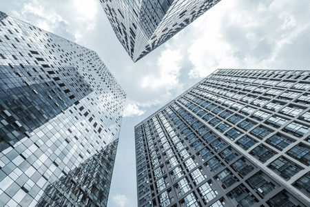 angle view: low angle view of modern buildings Stock Photo