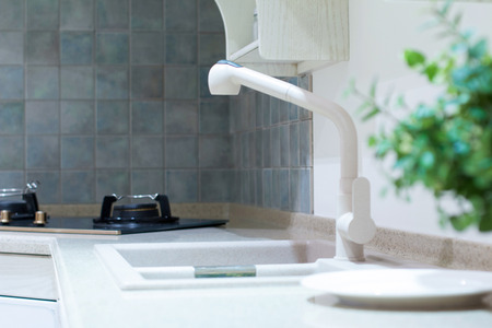 kitchen sink and decoration photo