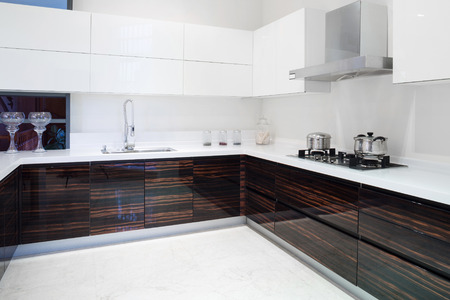 contemporary: Modern kitchen interior and furnitures
