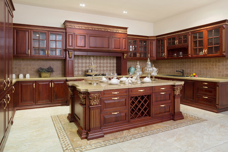 a kitchen: Modern kitchen interior and furnitures